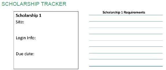 applying for scholarships