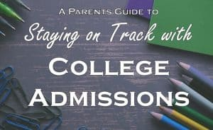 Staying on Track with College Admissions