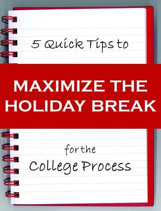 maximize holiday breaks by applying for more scholarships!