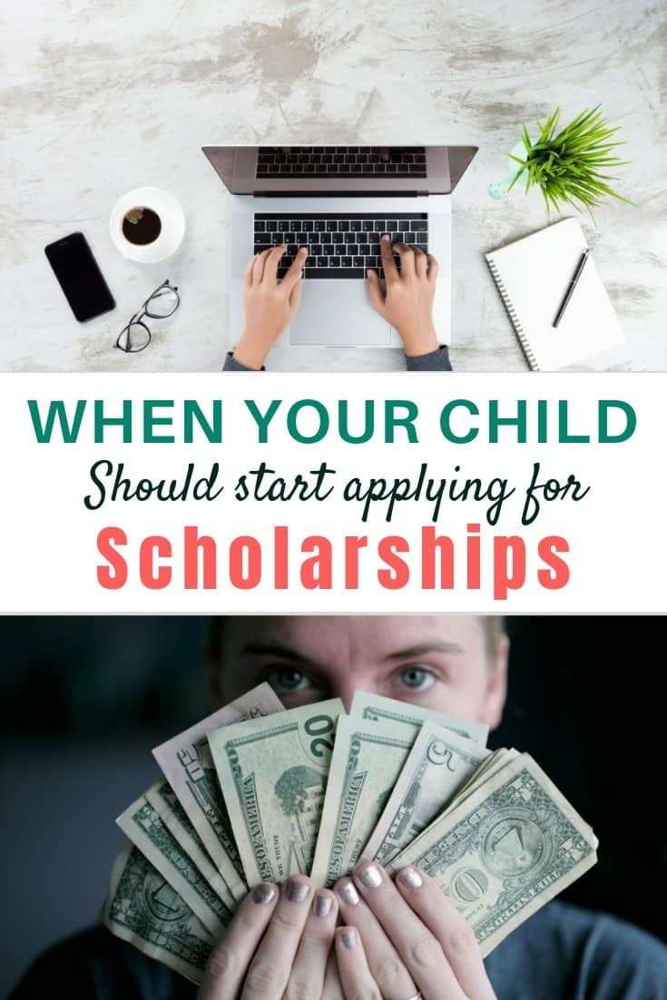 When your child should start applying to college scholarships.