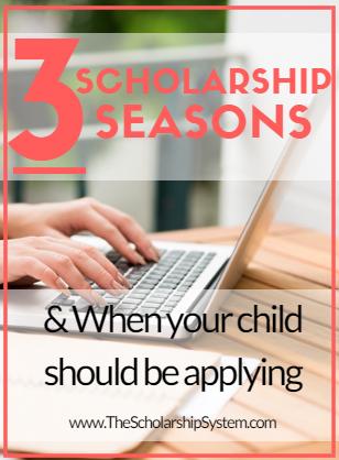 3 scholarships seasons for applying for scholarships