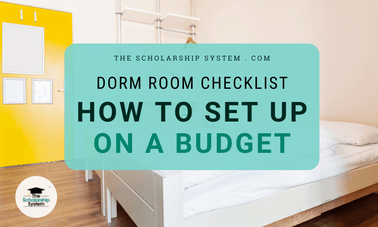 Dorm Room Set Up on a Budget