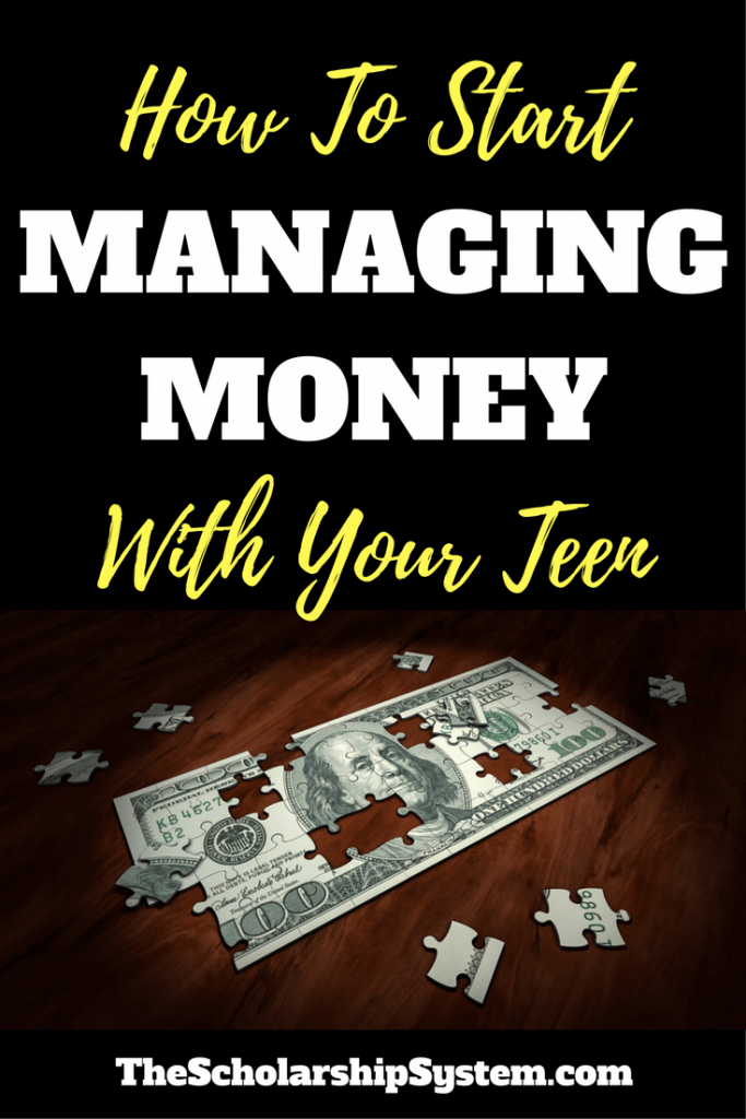 Learn important tips on how to start managing money with your teen #budget #collegeprep #money