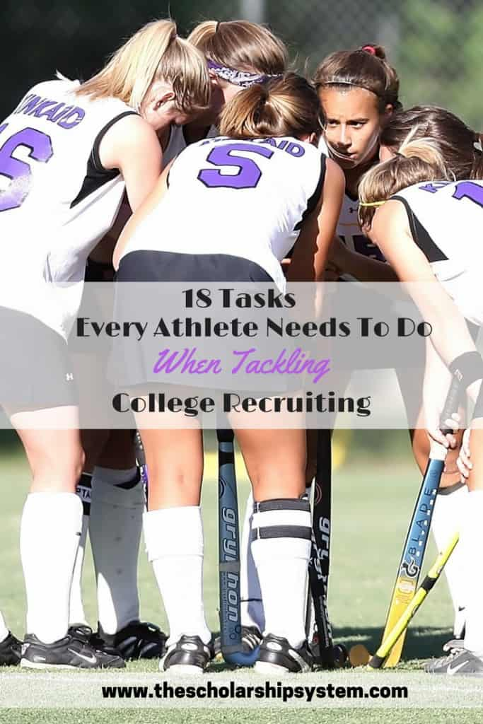Tips and tasks for athletes for college recruiting #college #athletics #highereducation