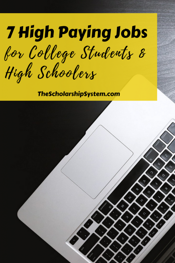 High Paying Jobs for high school and college students #students #cash