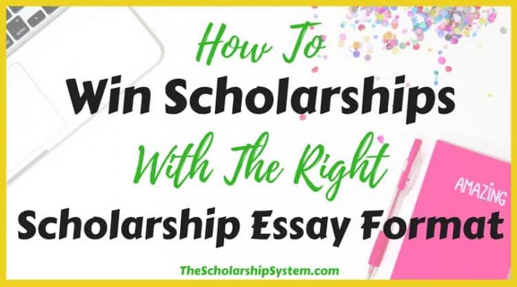 scholarship essay format