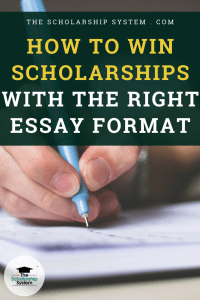 How to Win Scholarships With The Right Essay Format