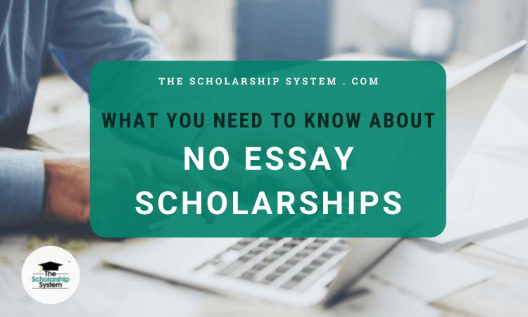 No Essay Scholarships