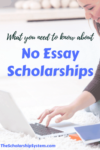 No essay scholarships #scholarships #college