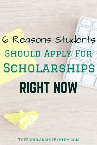 reasons why students should apply to scholarships right now #scholarships #education #college