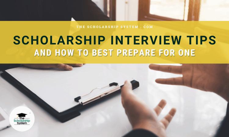 Scholarship Interview Tips