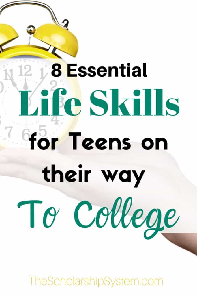 Before your high schooler heads to college, it's crucial that they have particular life skills that will help them thrive. Here are some to focus on.