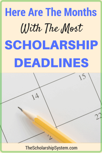 a guide to the months with the most scholarship deadlines #scholarships #college