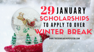 29 January Scholarships To Apply To Over Winter Break
