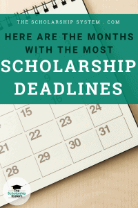 Here Are the Months With the Most Scholarship Deadlines