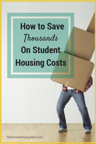Learn how to save thousands on student housing costs #college #savings #housing