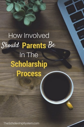 how involved should parents be in the scholarship process #scholarships #parents #college