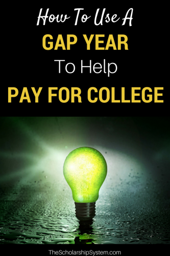taking advantage of a gap year to help pay for college