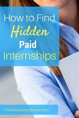 locking down a hidden paid internship #internship #college