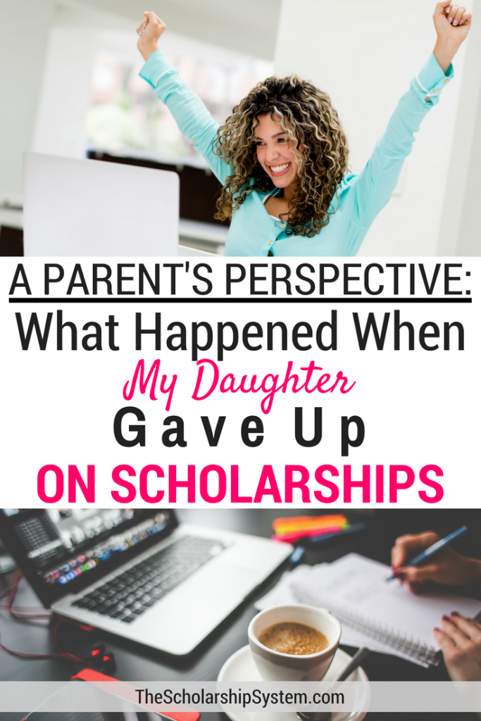 parent's perspective on a child giving up scholarships #scholarships #parent #college