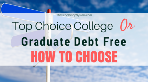 Top Choice College or Graduate Debt Free? How to Choose