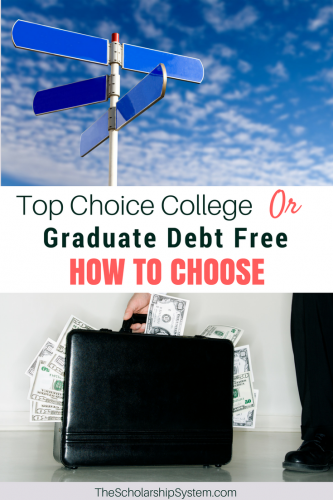 graduate debt free vs going to top college choice #college #scholarship #education