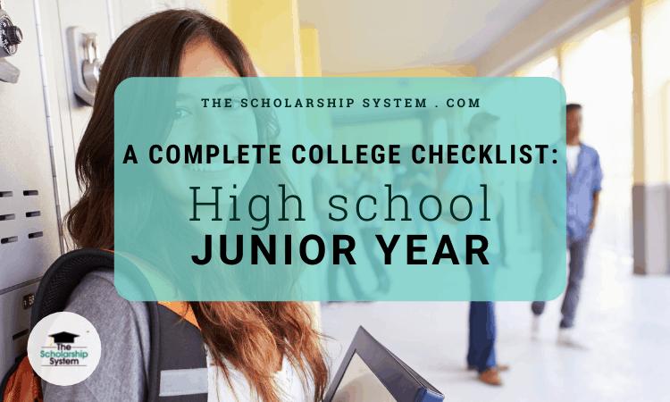 Complete College Checklist High School Junior Year