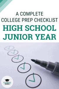 A Complete College Prep Checklist for High School Juniors