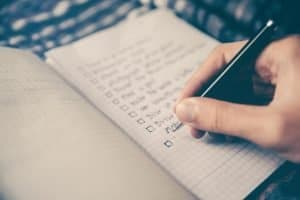 college admission checklist