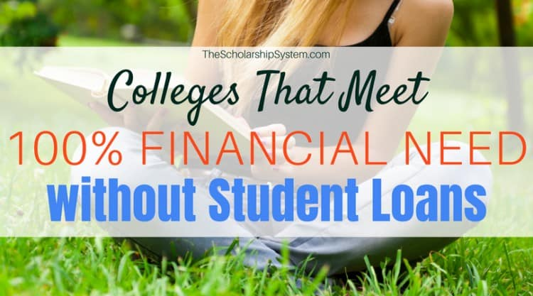 colleges that meet 100% financial need