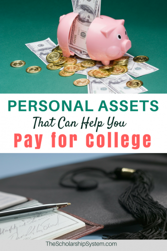 using personal assets, bank accounts, other funds to pay for college #college #funding