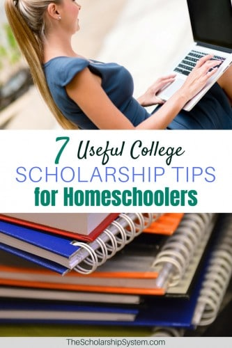 unique scholarship tips and ideas for homeschoolers #scholarships #college #homeschool