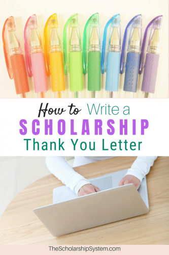 How to write a scholarship thank you letter