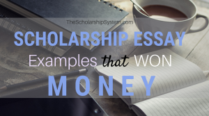 Scholarship Essay Examples That Won Money