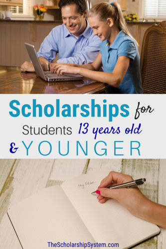 Scholarships for students 13 years old and younger