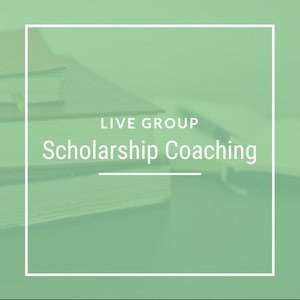 Live Group Scholarship Coaching