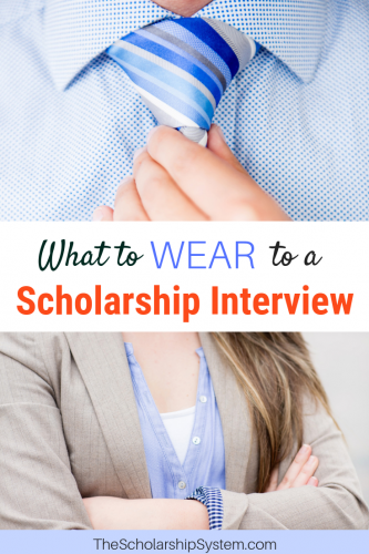 What to wear for a scholarship interview