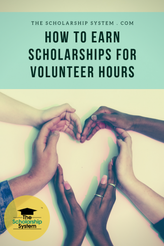 How to earn college scholarships for volunteering and community service.