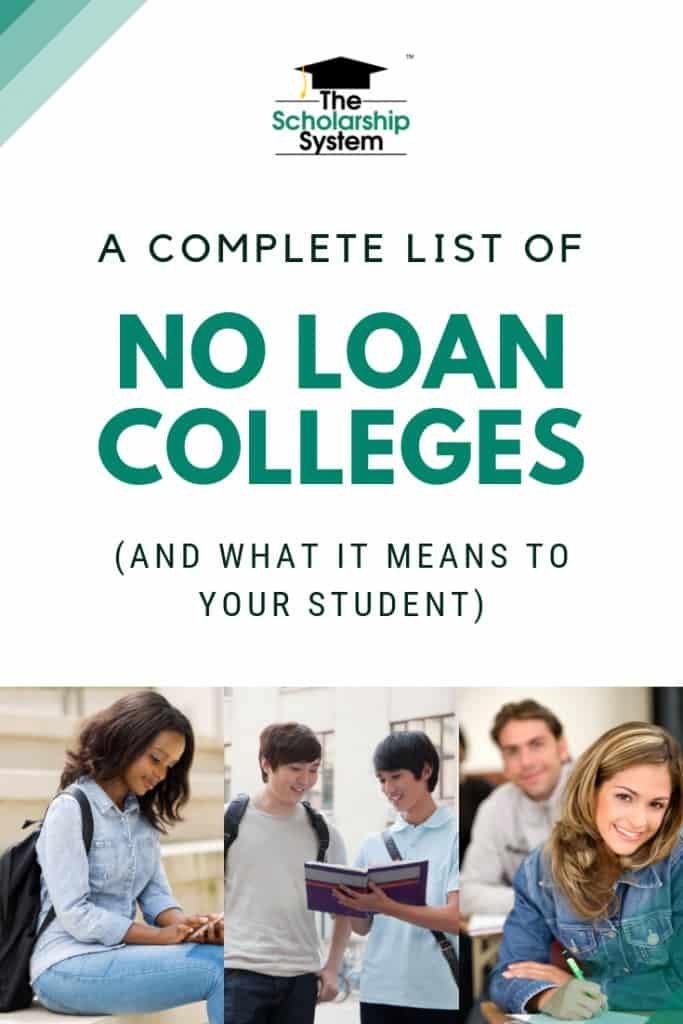Most students think student loans are part of every college financial aid package. But there are no loan colleges out there. Here's a complete list.