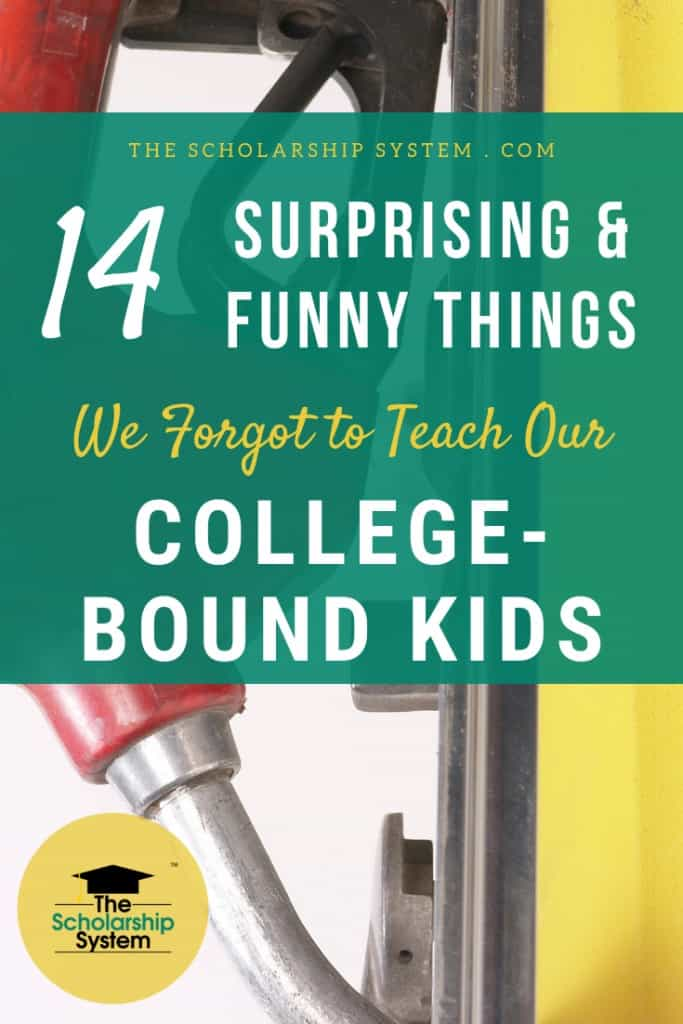 Parents do their best to impart wisdom on their college-bound kids, but it isn't uncommon to overlook some important life lessons, including these.