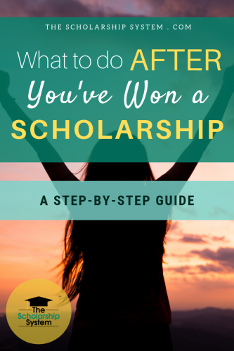 After winning a scholarship, there are steps you need to take to ensure things run smoothly. Here's what you need to do after you've won a scholarship.