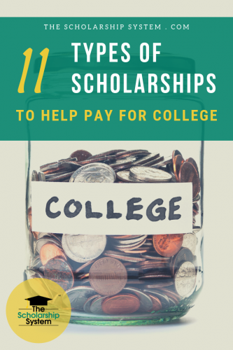 There are a surprising number of different kinds of scholarships available today. Here's a look at 11 types of scholarships that can help you pay for college.