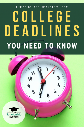 While every college sets its own schedule, many use similar application and admissions timelines. Here's a look at college deadlines students needs to know.