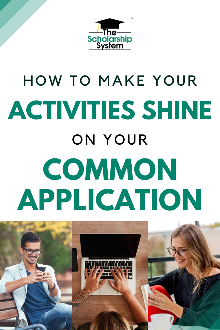 The Common Application activities section can help students stand out. If you want to make sure yours shines, here's what you need to know.