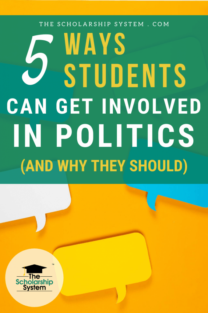 While politics can be intimidating, that doesn't mean you should shy away. Here's a look at how students can get involved in politics & why it's a good idea