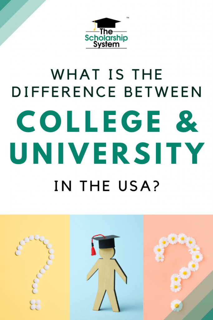 If you are trying to pick a school and want to understand the difference between college and university in the USA, here's what you need to know.