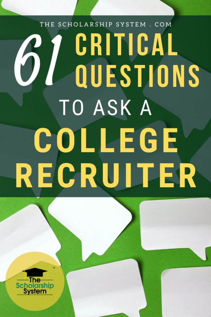 When you meet with college reps, it's an opportunity. Here are 61 amazing questions to ask a college recruiter to learn more about a school.