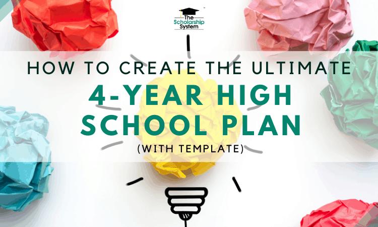 4 year high school plan