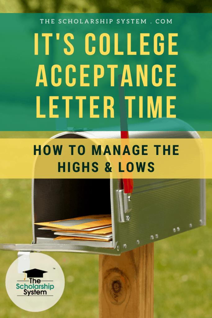 Navigating college acceptance letter season is tricky. If you want to make sure you're ready to manage the highs and lows, here's what you need to know.