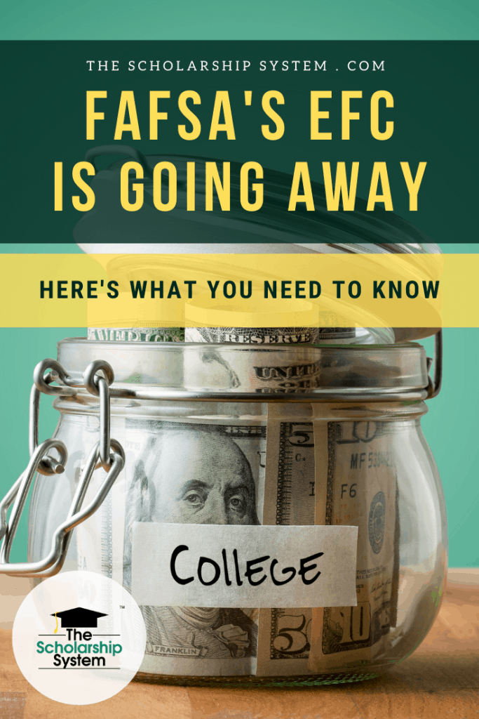Due to a new law, the EFC is on the way out. If you wonder how the new law may impact college financial aid, here's what you need to know.